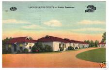 RUSTON LOUISIANA ROADSIDE HOTEL / MOTEL OLD LINEN VIEW