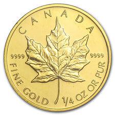 2001 Canada 1/4 oz Gold Maple Leaf BU - SKU #82829