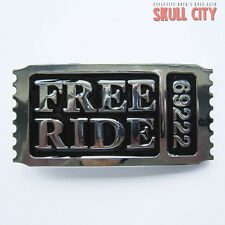 FREE RIDE 69222 Buckle-Fibbia Cintura-BIKER BITCH Chopper Rocker Club USA US