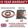 CV BOOT CLAMPS PAIR INNER OUTER x2 CV GREASE x2 UNIVERSAL FITS ALL CARS KIT 2.2