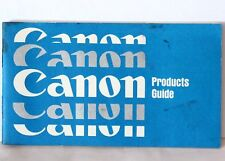 Canon Products Guide For 35mm SLR, Compact, Half-Frame, Movie Cameras & Lenses