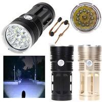 SKYRAY 32000LM 12x CREE XM-L T6 LED Flashlight Torch 4x 18650 Hunting Light Lamp