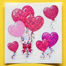 Stickeralbum Sticker Sandylion Vintage 90er Glitzer Prismatic Ballons Herzen