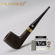 Billiard Tobacco Pipe Handmade Smoking Wooden Pipe Xmas Gift with 10 Accessories