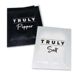 Salt & Pepper Individual Condiments Sachets- TRULY Portions / Packets- NEW STOCK