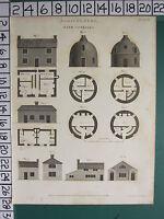 1805 Fecha Antigüedad Estampado ~ Agricultura Granja Casas Rurales ~ Modular &