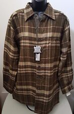 Firethorn Silver NWT Men's Fatigue Color Flannel Button Down Lined Jacket Size M
