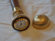 Clock Ball Top Walking Stick with Carved Hard Wood Shaft -Cain A Very Nice Gift