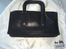 Coach Vintage Bonnie Cashin Briefcase Slim Tote Satchel Bag Black Leather w/ Tag