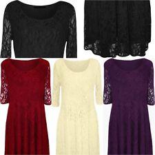 Nylon Plus Size Scoop Neck Dresses for Women