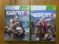 USED - Far Cry 3 + 4 Bundle Lot of 2 - Microsoft XBOX 360 - Free Shipping - 1B