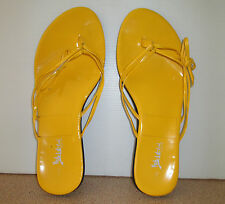 Hot Chilli Girl Size 9 Yellow Slip On Thong Shoes Strappy Flat Shoe Casual Beach