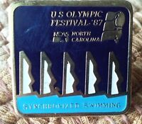 Synchronized Swimming U.S. Olympic Festival pin badge 1987 NCAS