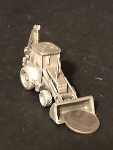 Tractor Loader Backhoe 1/43 Scale New Holland Pewter 1999