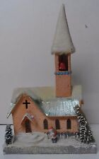 Gigantic Magnificent Old Under the Christmas Tree Church House w Santa Claus
