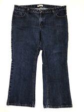 Dickies Womens Jeans Size 20 Petite Dark Blue Denim Bootcut