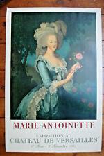AFFICHE LITHOGRAPHIQUE-MARIE ANTOINETTE-1955-MOURLOT- 74 CM/49 CM-