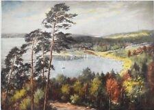 Siegfried Rochel Original Farblithographie handsigniert An der Havel 54 x 45 cm