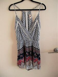 Morning Mist Ladies Boho Playsuit . Size 10, As New Condition