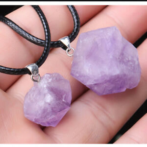Amethyst Necklace Gemstone Crystal Necklace Quartz Pendant Healing Reiki Pendant