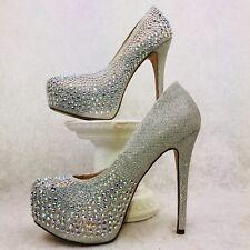 De Blossom Collection sz 7 Jeweled Sparkle Dressy Party Prom Women's Pumps EUC