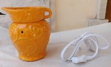 diffusore ambiente ceramica porcellana con luce led brucia essenze lampada giall