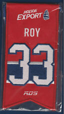 PATRICK ROY MONTREAL CANADIENS MOLSON EX RETIRED NUMBER MINI BANNER SEALED 17817