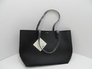 DK Donna Karan Black Tote Faux Leather - Cashmere Fragrance Collection - NWT