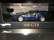 RARE 1/18 HOT WHEELS ELITE FERRARI 308 GTB METALLIC BLUE NIB DIECAST CAR MODEL