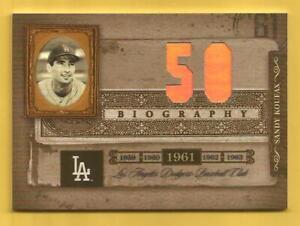 SANDY KOUFAX 2005 Biography Wins #50 Dodgers HOF'er