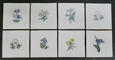 Holland Set of 8 Tiles with Flowers Vintage Dutch