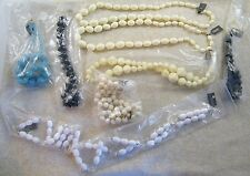 (9) NEW VINTAGE TRIFARI BEAD NECKLACES ~ VARYING COLORS / SHAPES / SIZES