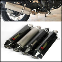 51mm Motorcycle Exhaust Muffler Pipe with Removable DB Killer Slip on 570mm
