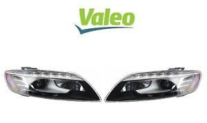 OEM Valeo Pair Set of Front Headlights Lamp Assemblies Xenon For Audi Q7 2010-15