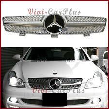 For 04-08 W219 CLS350 CLS550 CLS63 Benz Chrome w/DTR Cover SL Type Front Grille