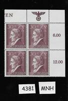 MNH stamp Block  #4381 / 30GR + 30GR & emblem  Germany Poland WWII Occupation