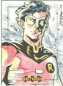 2008 Rittenhouse Archives Batman Archives Robin Sketch Card By Jeff Johnson RARE