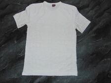 Overnexs Herren Shirt T-Shirt Hemd in weiß Kurzarm Gr. M 48 50 * Maße im Text *