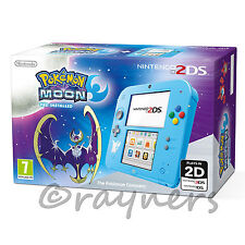 New Special Edition Nintendo 2DS Console + Pokemon Moon Game (Pre-Installed)