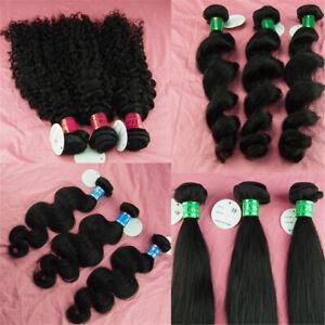 100% virgin peruvian remy human hair weft extensions unprocessed 3 bundles 300g