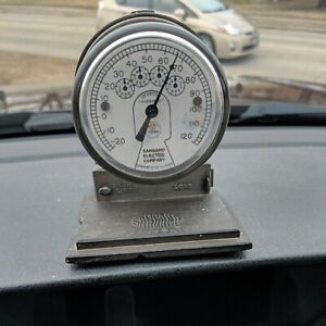 Vintage Advertising Sangamo Electric Company Meter Paperweight Thermometer