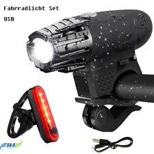 Fahrradlampen SET USB Fahrradbeleuchtung LED Fahrradlicht Vorderlicht Rücklicht