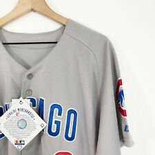 Majestic MLB Gray Baseball Jersey Chicago Cubs Ryan Theriot #2 Mens 48 New