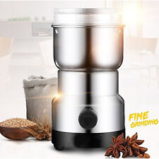 2019 New Electric Coffee Grinder Whole Bean Nut Spice Blender Matte Silver 200W