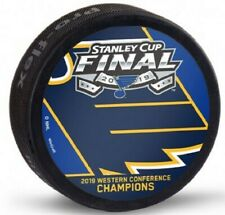2019 Stanley Cup Hockey Puck St. Louis Blues Western Conference Champions