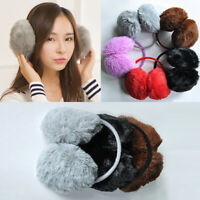 Winter Women Girl Fluffy Earmuffs Solid Soft Plush Warm Ear Muffs Earcap Gift