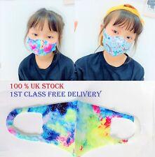 Reusable washable girls cotton face mask non medical pattern kid children unisex