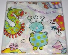 """MONSTER BIRTHDAY PARTY PLASTIC TABLE COVER Tablecloth 54"""" x 84"""" Boys Cute"""