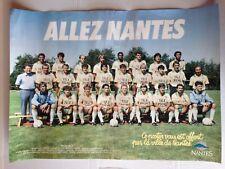 RARE POSTER PROMO FC NANTES SAISON 1986 / 1987