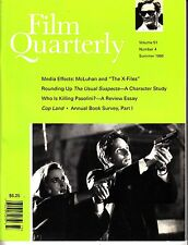Film Quarterly Summer 1998 The X-Files The Usual Suspects Pasolini